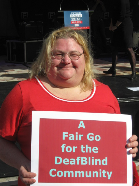 Trudy at NDIS Rally